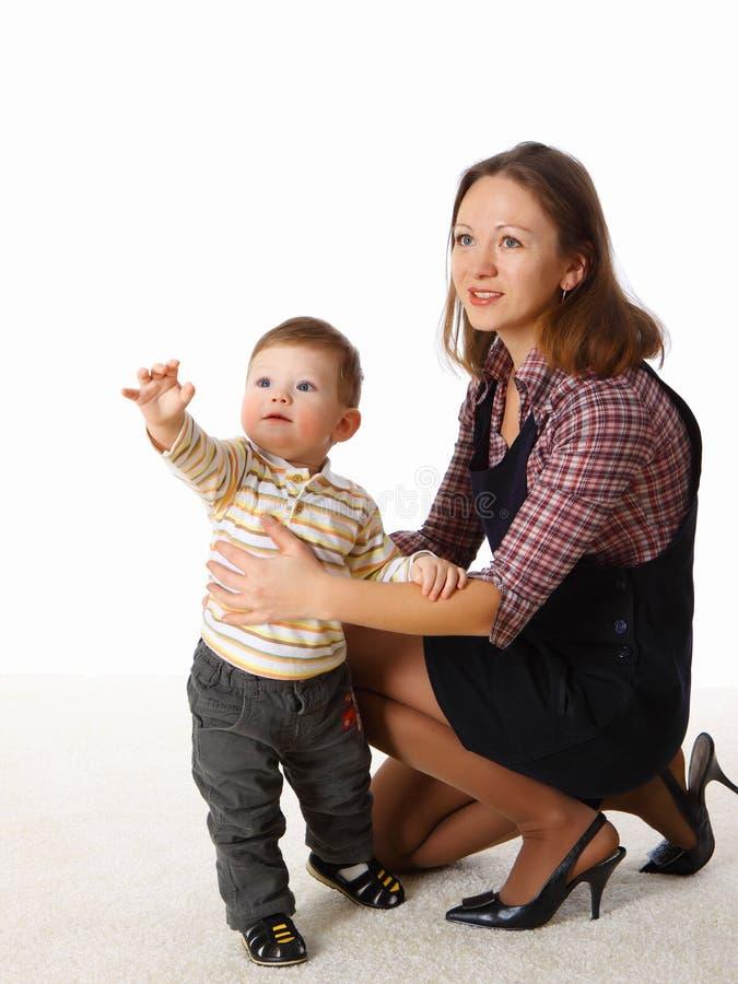 jej mały macierzysty bawić się syn wpólnie zdjęcie royalty free