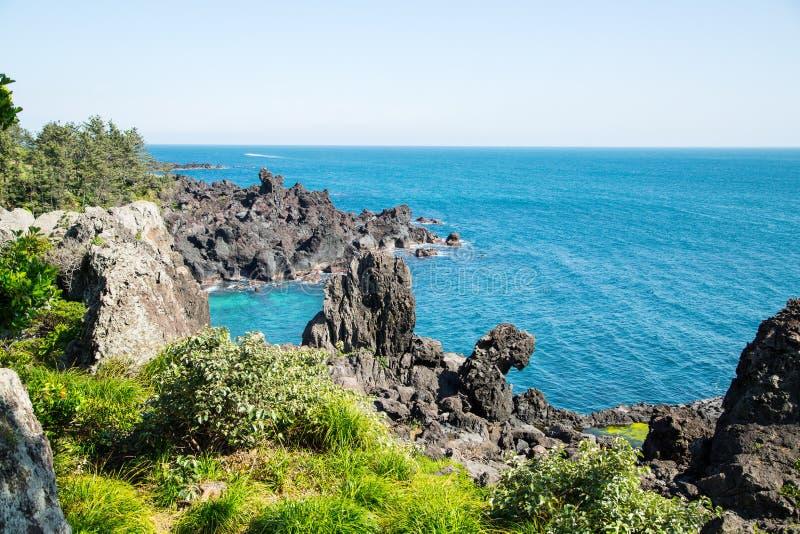 Jeju ö Korea royaltyfria bilder