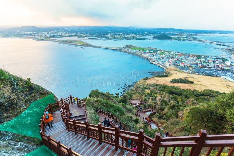 Jeju приставает остров к берегу, Южную Корею стоковые изображения rf