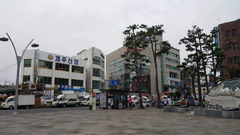 Jeju Island Downtown Area stock photos