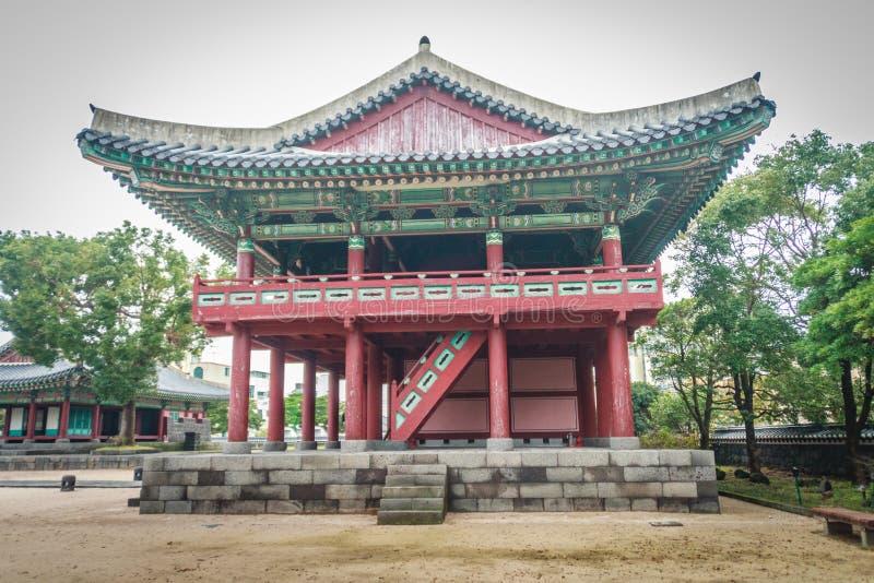 Jeju Mokgwana, el edificio restante más viejo de Jeju para anterior fotos de archivo