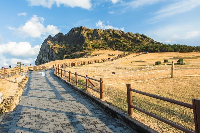 Jeju sätter på land ön, Sydkorea arkivfoto