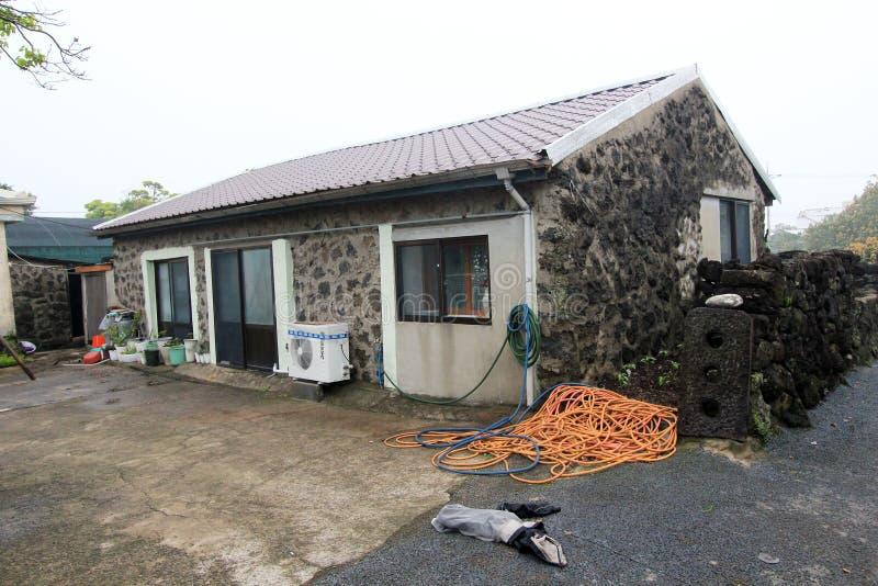 Jeju Seongeup Folkby royaltyfria bilder