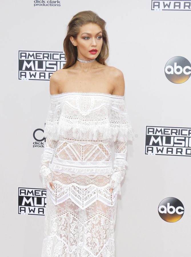 Jelena Noura `Gigi` Hadid. Gigi Hadid at the 2016 American Music Awards held at the Microsoft Theater in Los Angeles, USA on November 20, 2016 stock photography