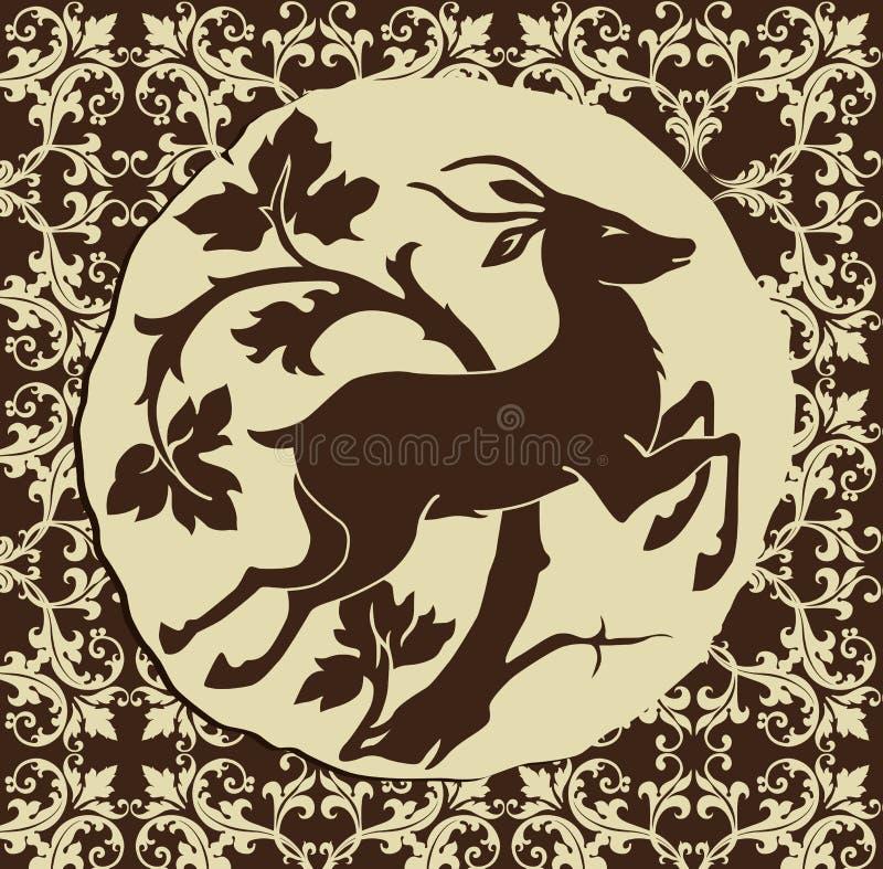 jeleni drewna royalty ilustracja