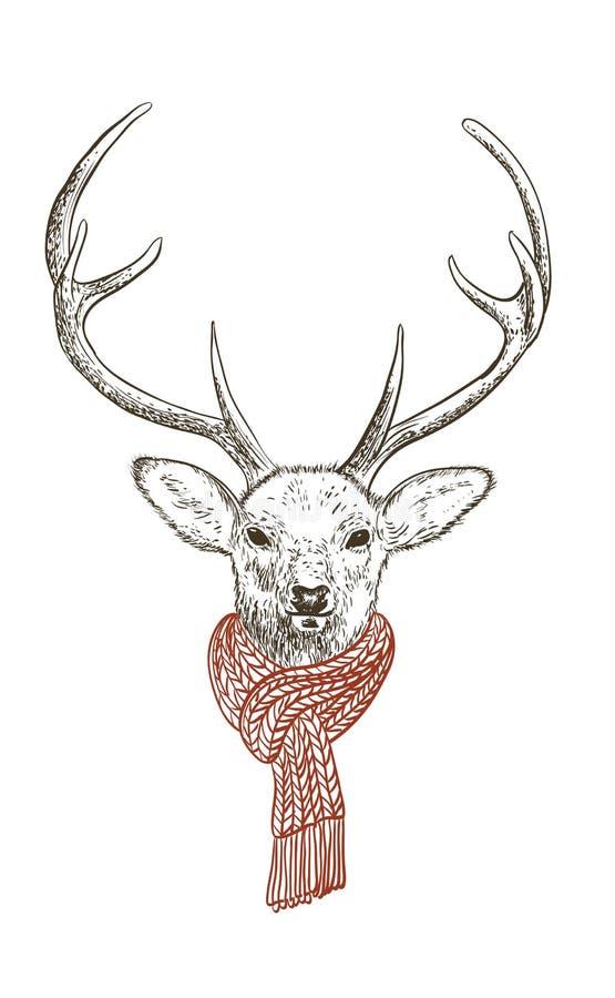 jeleni szalik ilustracji