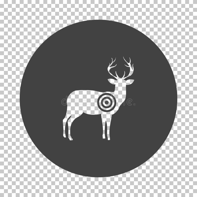 Jelenia sylwetka z cel ikon? royalty ilustracja