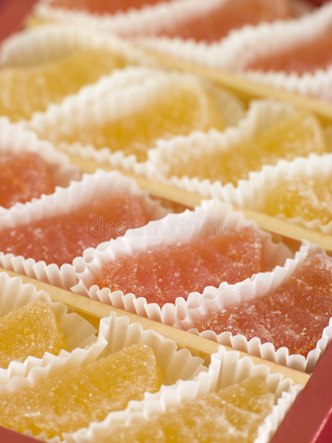 Download Jellied Fruits In Paper Cases Stock Photo - Image: 5603720