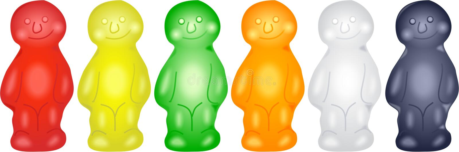 Jelly Babies vector illustration
