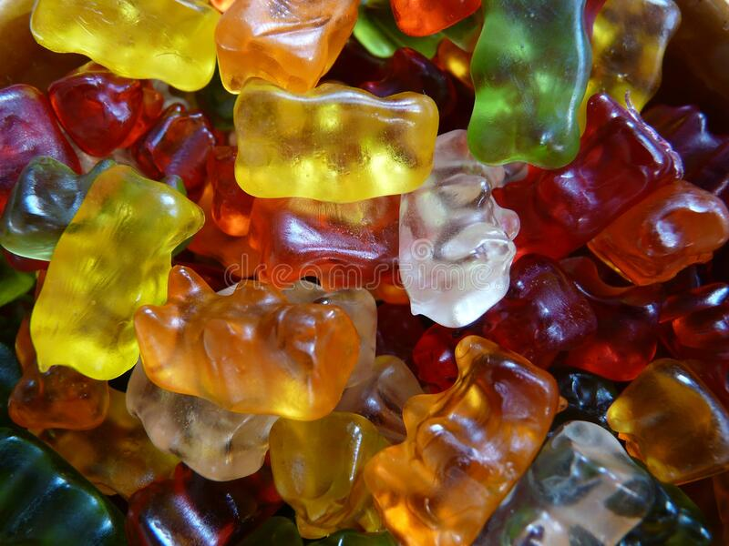 Jelly baby style sweets stock images