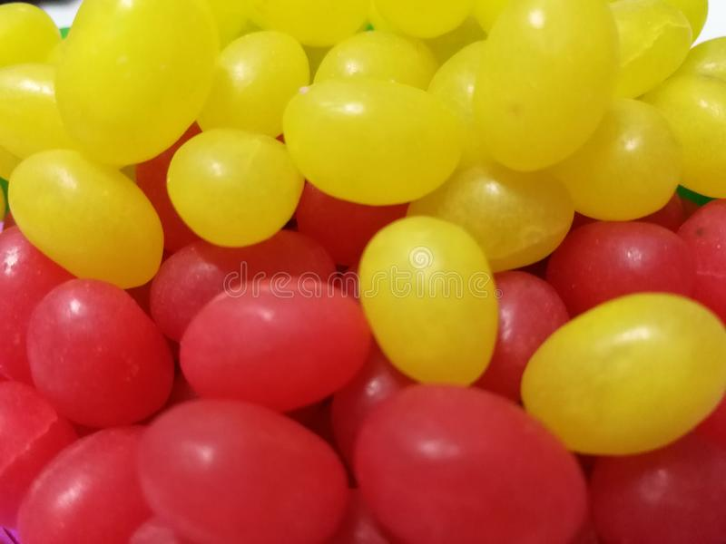 Jelly Bean. Colorful jelly bean on a plate is children favorite royalty free stock photography