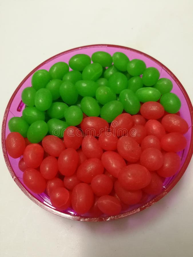 Jelly Bean. Colorful jelly bean on a plate is children favorite stock images