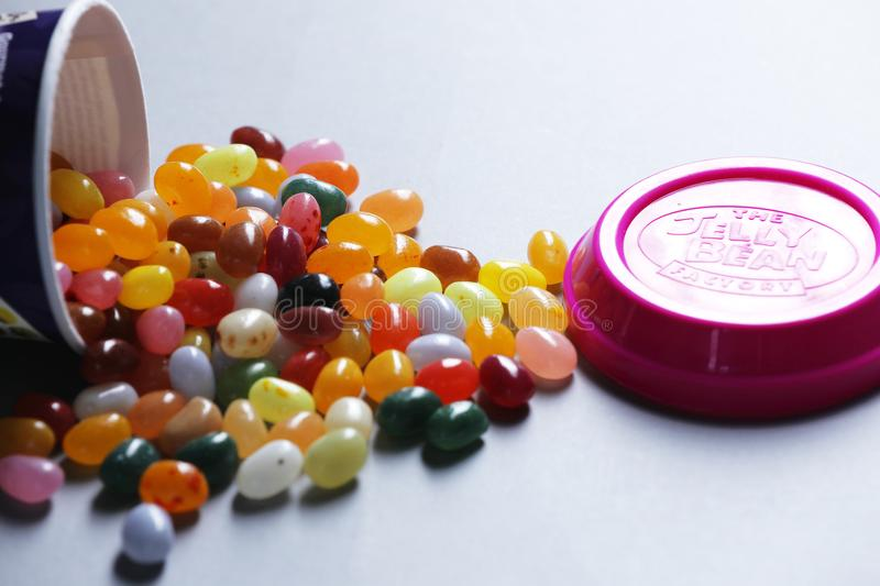 Jelly Bean Fac­to­ry Cup from Dutch retailer Albert Heijn, isolated royalty free stock images