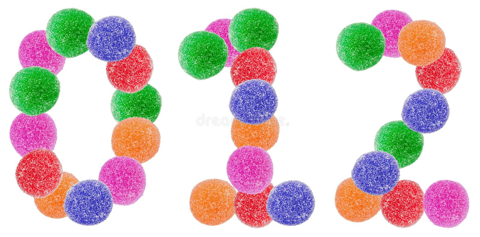 Jelly Candy Numbers stock photos