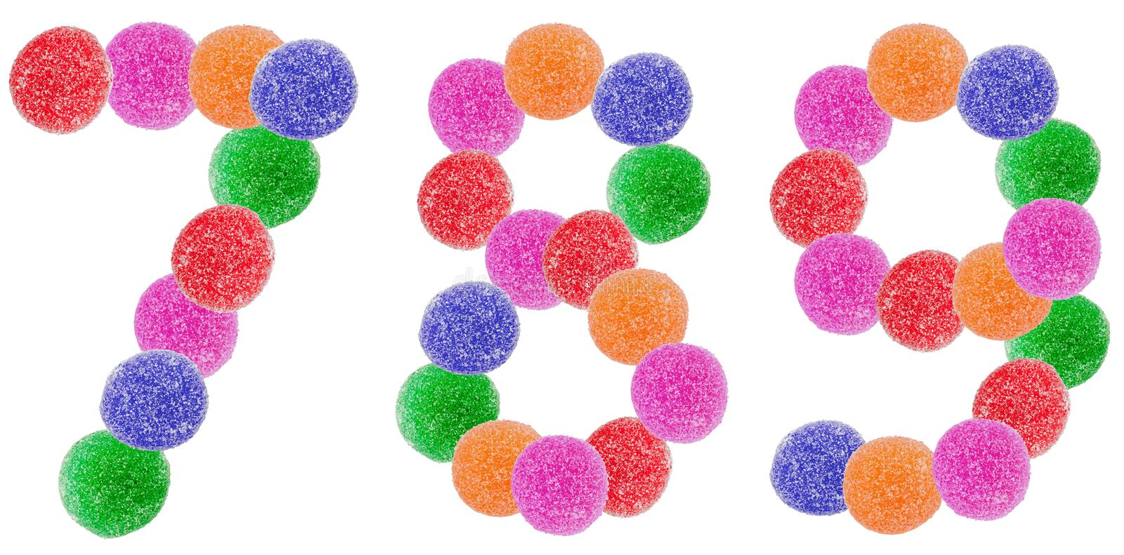 Jelly Candy Numbers royalty free stock photos