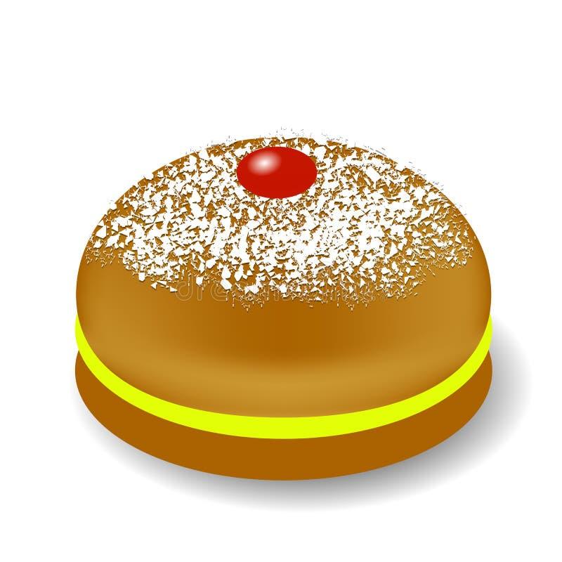 Jelly Donuts rossa per Chanukah illustrazione di stock