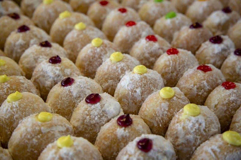 Jelly Doughnut Sufganiyah foto de archivo
