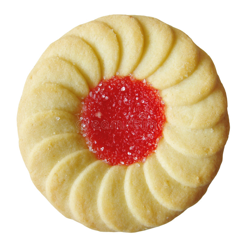 Jelly filled cookie royalty free stock image