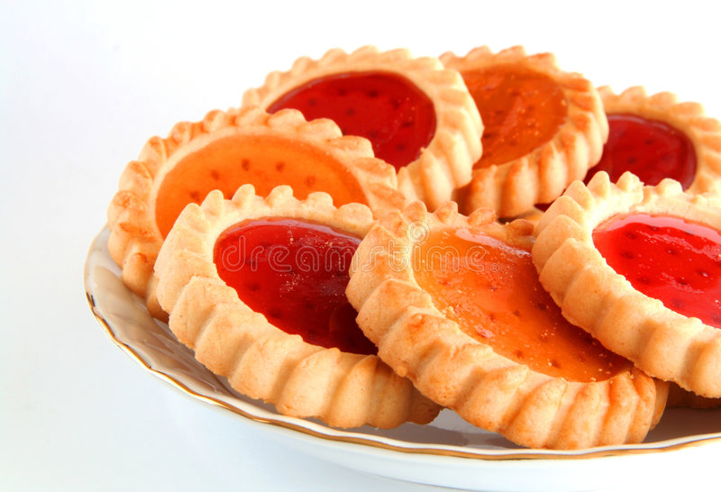 Jelly filled cookies royalty free stock images