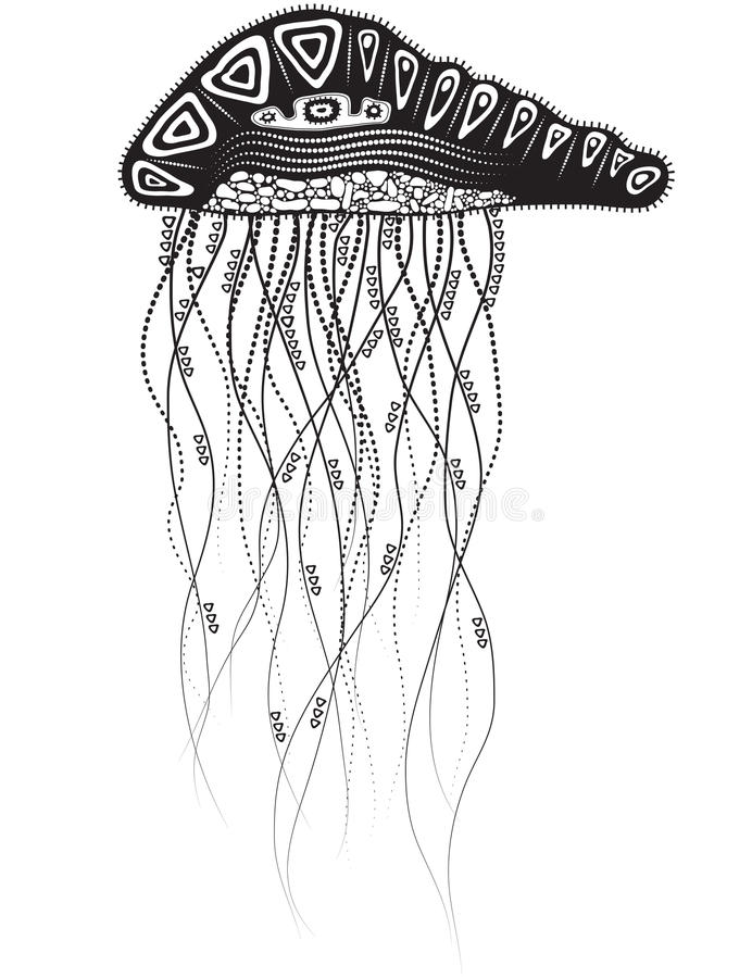 Download Jelly Fish stock vector. Illustration of creature, isolated - 26801074
