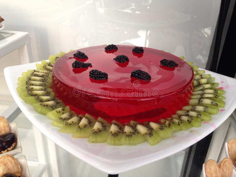 Fruit And Jelly Cake Recipe: Jelly Fruit Cake Stock Image. Image Of Plate, Desserts