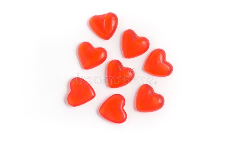 Jelly Heart Shaped doce imagem de stock royalty free
