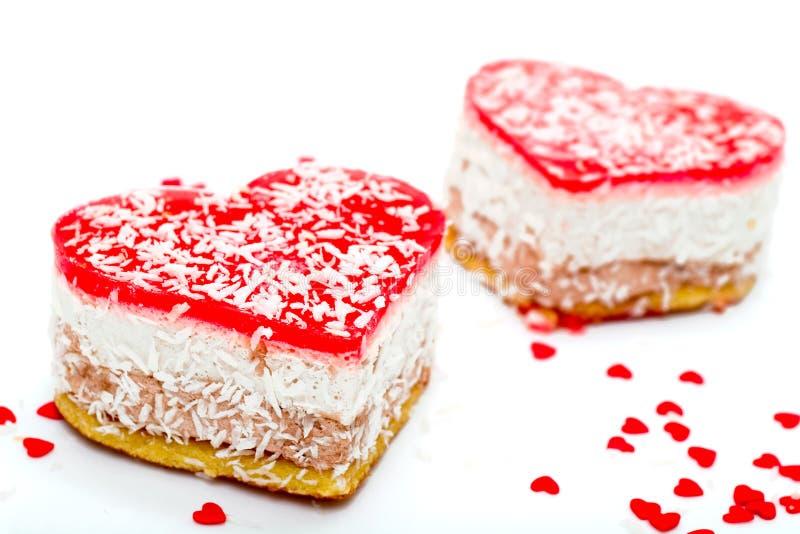 jelly kształtował ciasta serca 2 obrazy stock