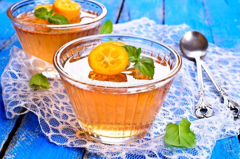 Jelly orange stock photo