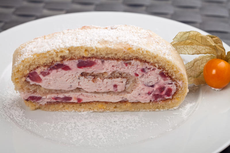 Jelly roll cake stock images