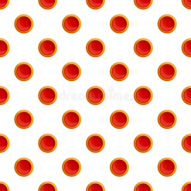 Jelly round biscuit pattern seamless vector royalty free illustration