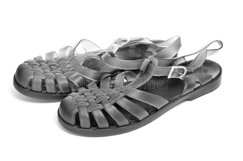 Jelly sandals royalty free stock photo