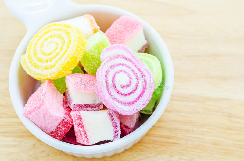 Jelly sweet, flavor fruit, candy dessert colorful. stock photos