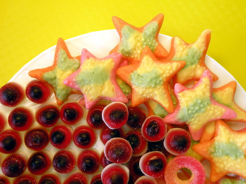 Download Jelly sweets stock image. Image of stars, closeup, yellow - 18644515