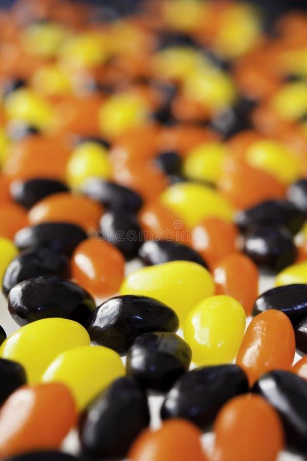 Jellybeans de Halloween imagem de stock
