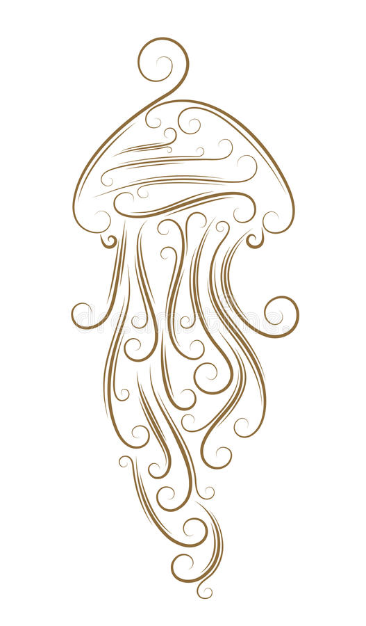 jellyfish nakreślenie royalty ilustracja