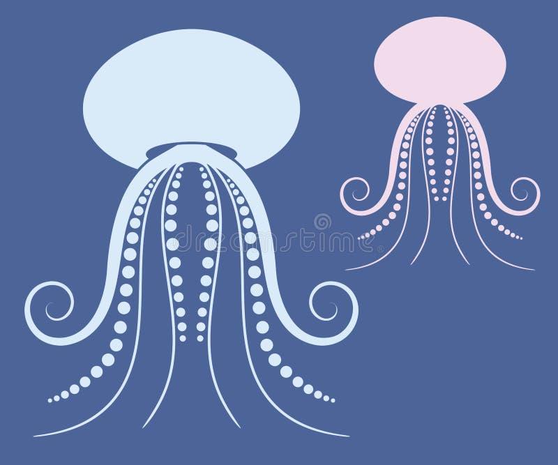 Jellyfish. Vector illustration (EPS 10) stock illustration