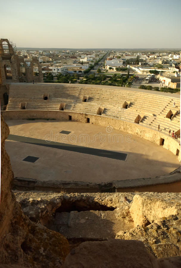 jem римский Тунис el colosseum арены стоковое изображение rf