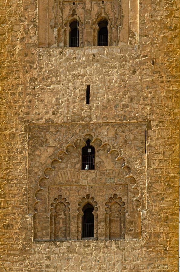 Jemaa el Fna清真寺的建筑细节 E 免版税库存图片