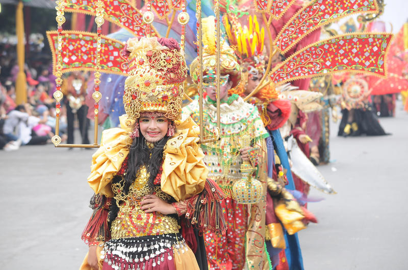 Jember Fashion Carnival royalty free stock images