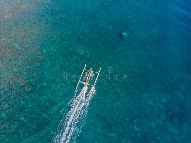Jemeluk Bay, Amed. Amed is fast becoming a popular tourist destination in Bali, Indonesia. Set in the North-East of Bali stock photography