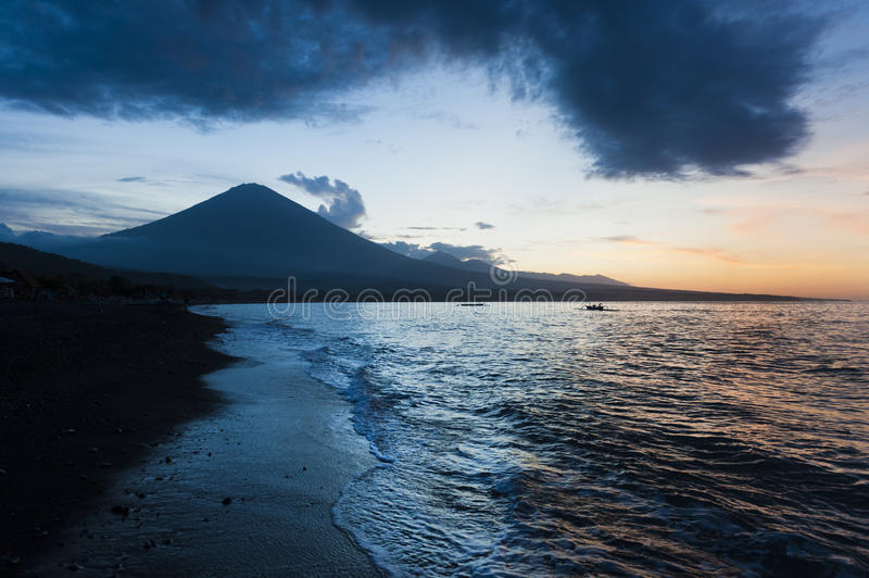 Jemeluk Beach, Amed, Bali royalty free stock images