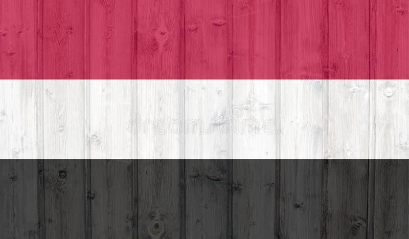 Jemen flaga royalty ilustracja