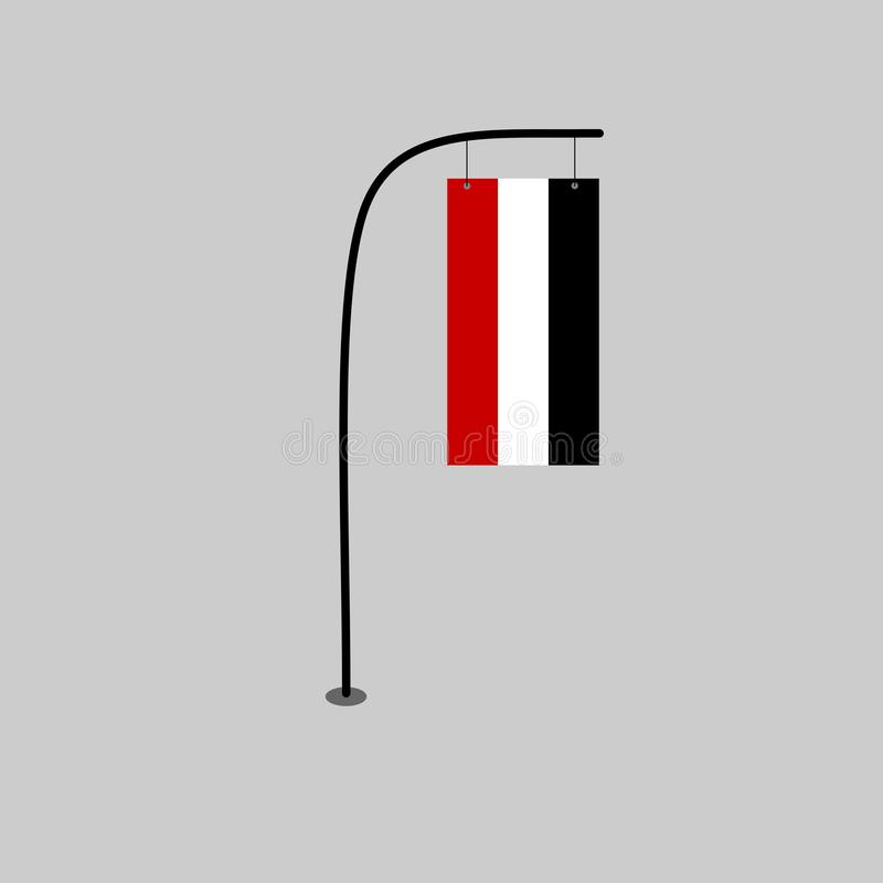 Jemen flaga ilustracja wektor