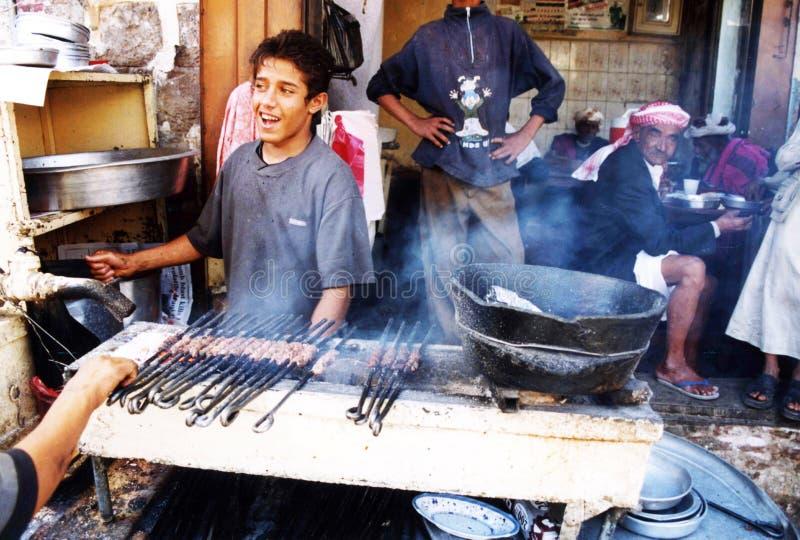 Jemenitisk kebab arkivfoto