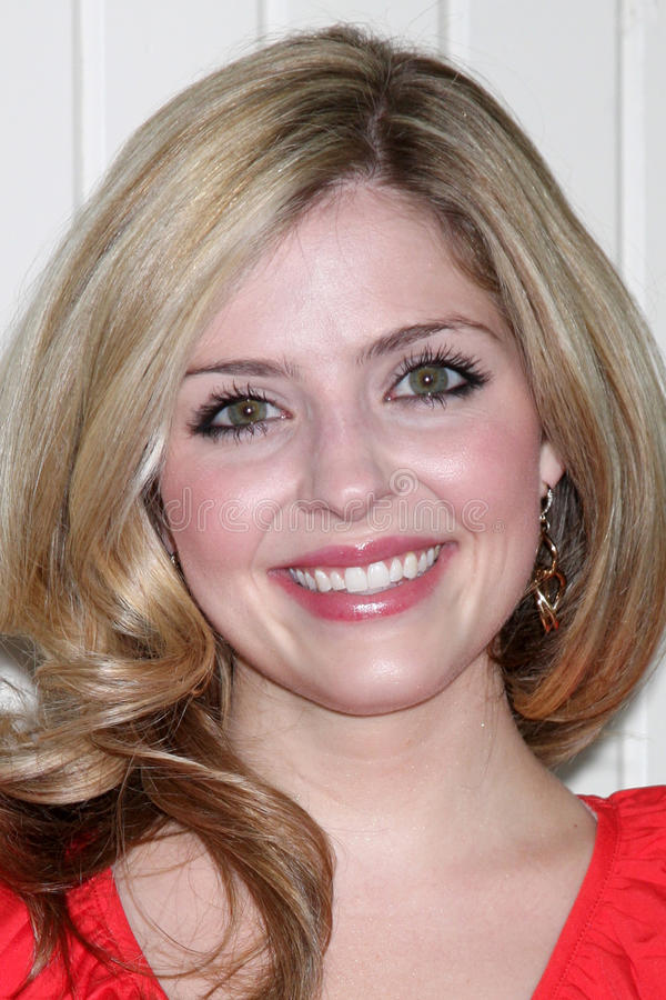 Jen Lilley. LOS ANGELES - JUL 21: Jen Lilley arrives at the 2012 General Hospital Fan Club Luncheon at Sportsman's Lodge on July 21, 2012 in Studo City, CA royalty free stock photo