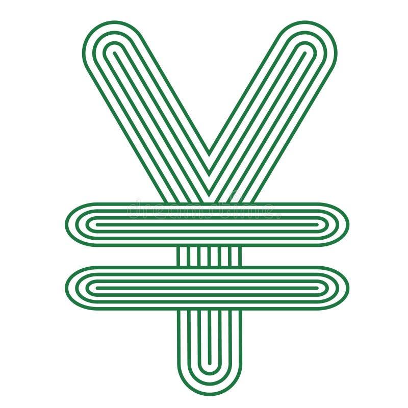 Jen, waluta jenu ikony symbol ilustracja wektor