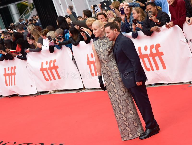Jena Malone and Emilio Estevez at `Widows` premiere in Toronto. Actress Jena Malone and Director Emilio Estevez at `Widows` premiere in Toronto. Emilio is an royalty free stock photos