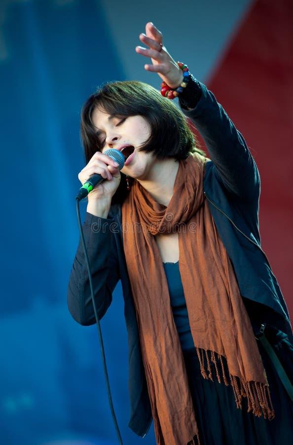 Download Jenia Lubich Performs At Usadba Jazz Festival Editorial Stock Photo - Image: 33871793