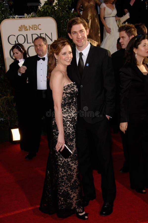 Jenna Fischer, John Krasinski stock afbeeldingen