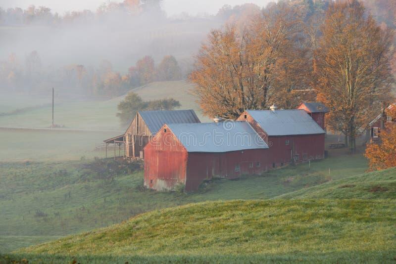 Jenne Bauernhof im Sonnenaufgang lizenzfreie stockfotos